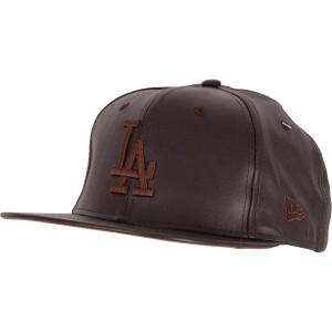 2b5337aa21ec9 Boné New Era LA Dodgers Leather Marrom
