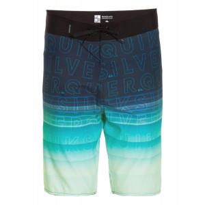 5938b3bfdf22a Bermuda Juvenil Quiksilver Division Word - Azul Verde   Loja de Surf