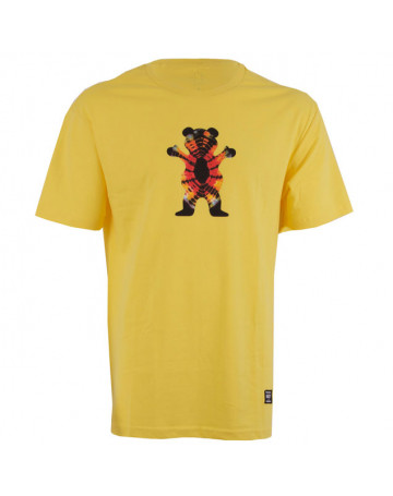 Camiseta Grizzly Og Bear Tie Dye Amarela