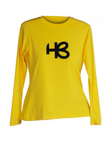 Camiseta Lycra Feminina HB Single Emblem Amarelo