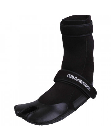 Bota Neoprene Mid Billabong Neosocks 2mm Preta