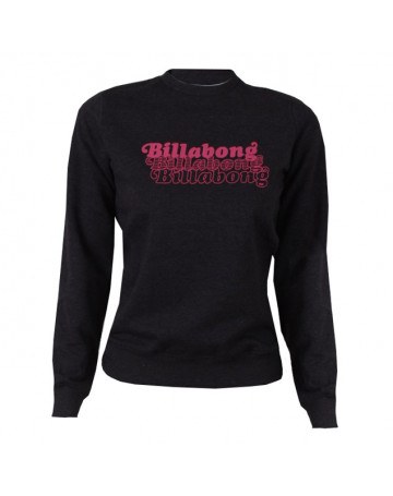 Moletom Billabong Logo - Cinza