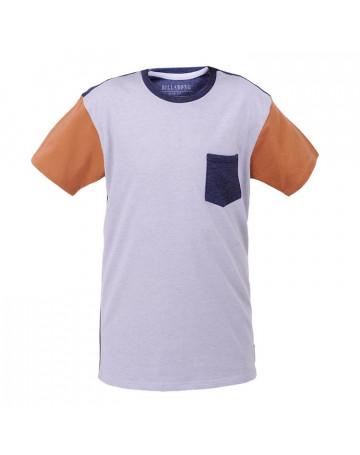 Camiseta Billabong Juvenil Zenith Crew PJ - Cinza/Azul