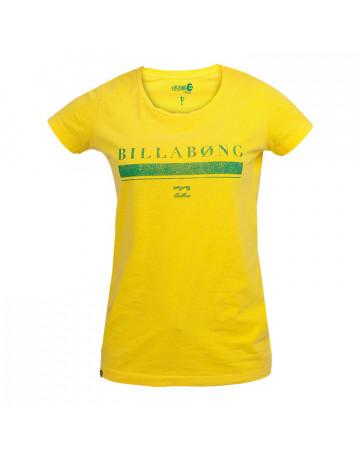 Camiseta Billabong Feminina Pride - Amarelo