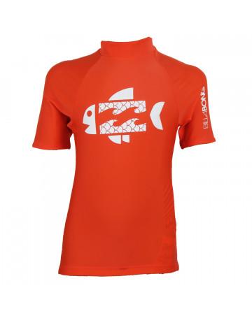 Camiseta Billabong Lycra Infantil Fish Laranja