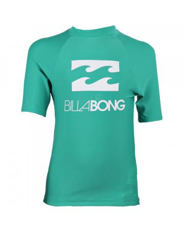 Camiseta Billabong Lycra Infantil Square Verde