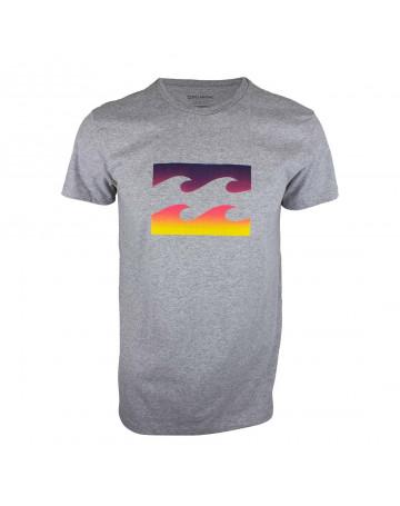 Camiseta Billabong Team Wave III - Cinza