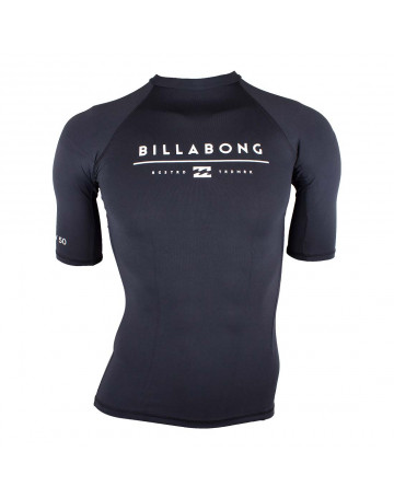 b8ee6a2b8d Camiseta Surf Billabong Lycra All Day Unity - Preta