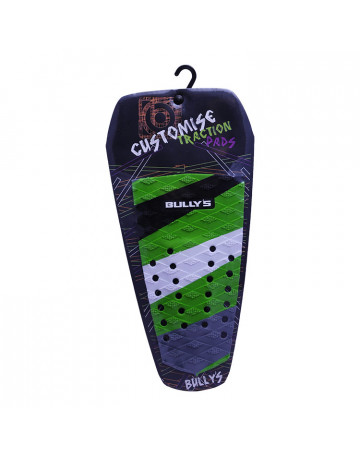 Deck Bully's Customise Traction Listrado (Centro) Faixas Verde/Branca