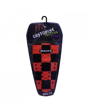 Deck Bully's Customise Traction (Centro) - Quadriculado Laranja