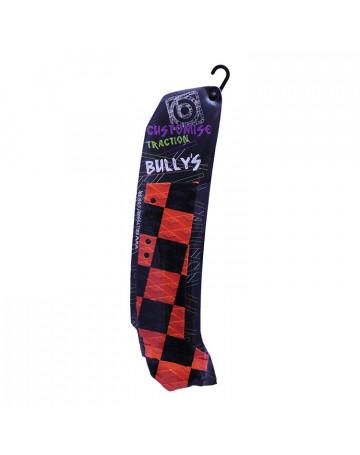 Deck Bully's Customise Traction (Lado Esquerdo) Xadrez Preto/Vermelho