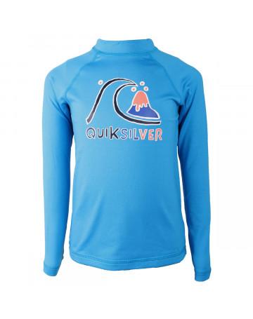 Camiseta Lycra Rashguard Juvenil Quiksilver Bubble Kids Azul  e0ccaa801b6b3