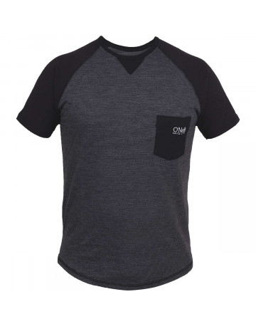 Camiseta O'Neill Raglan Stripe Preto