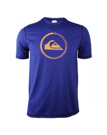 Camiseta Quiksilver Lycra Rashguard Teecircle Azul