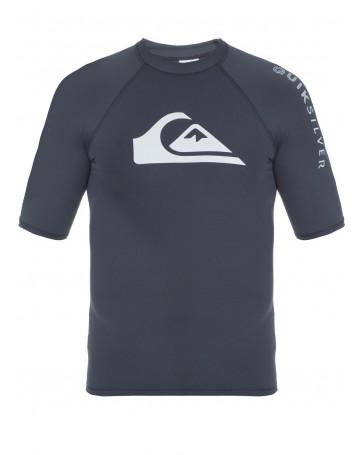 Camiseta Quiksilver Lycra Rashguard Hawaii- Cinza