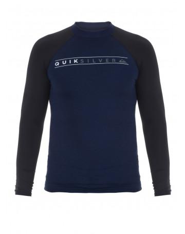 Camiseta Quiksilver Lycra Juvenil Rashguard Since 1969 - Marinho