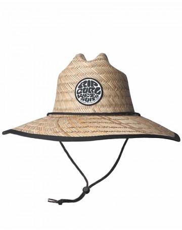 Chapéu de Palha Rip Curl Wetty Straw Hat - Palha/Preto