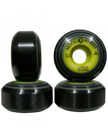 Roda Moog Whells Dual Core Records 54mm - Preto/Verde