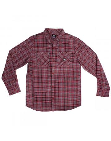Camisa DC Juvenil Classic - Vermelho/Cinza