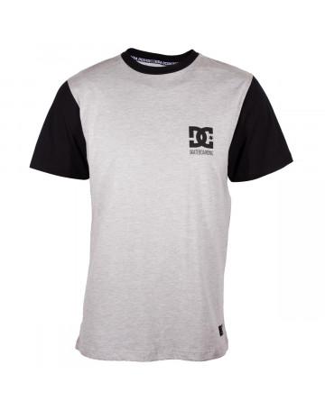 Camiseta DC Skate - Cinza Mescla Preto  930f70c47da