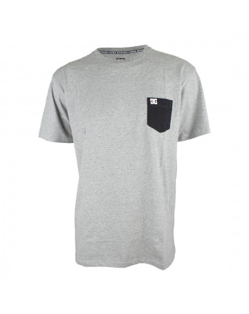 Camiseta DC Basic Pocket II Cinza Mescla