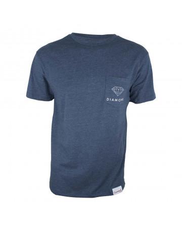 Camiseta Diamond Pocket - Azul Mescla