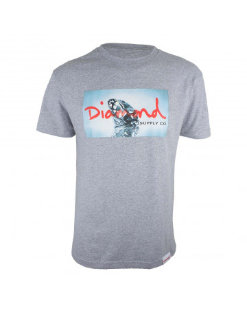 Camiseta Diamond Jewelry - Cinza Mescla  f44bb75052f