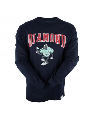 Camiseta Diamond Manga Longa Team Mascot - Marinho