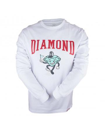 Camiseta Diamond Manga Longa Team Mascot - Branca