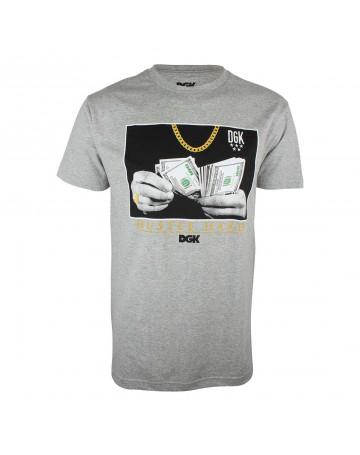 Camiseta DGK Hustle Hard - Cinza Mescla