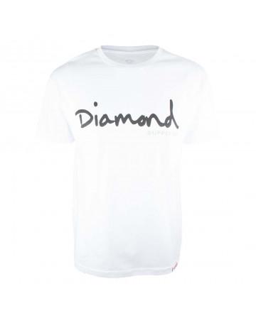Camiseta Diamond OG Script - Branco
