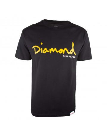 Camiseta Diamond OG Script - Preto