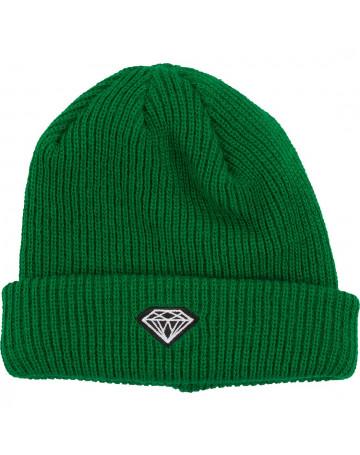 Gorro Diamond Brilliant Cuffed Rib Verde