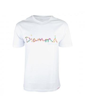 Camiseta Diamond OG Script Fasten Branca