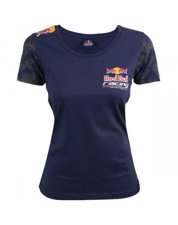 d116cf0f2d2d5 Camiseta Feminina Red Bull Racing Brazil Team Azul