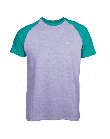 Camiseta Element Raglan Fundamental - Cinza Mescla Verde  d64cda337f5