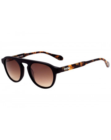 Óculos de Sol Evoke kosmopolite 5b m01 BLACK Matte Temple Blond Turtle Brown Gradient