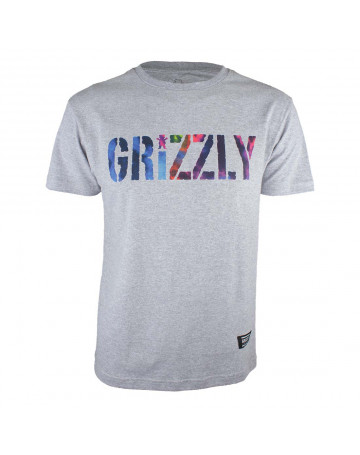 Camiseta Grizzly Nice Trip - Cinza Mescla