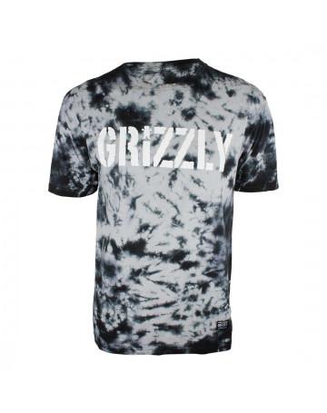 Camiseta Grizzly Storm Front Tye Die - Preto