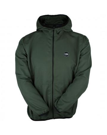 Jaqueta HB Corta Vento Zip Pocket Verde Escuro