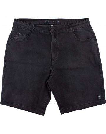 Bermuda Hang Loose Jeans Dark Extra Grande - Preta