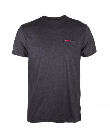 b1e6f46000e17 Camiseta Hang Loose Pocket - Chumbo Mescla