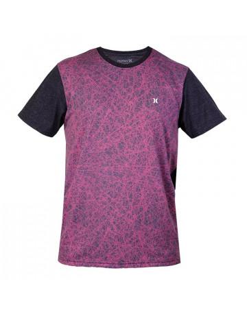 Camiseta Hurley Especial Force Core Crew - Rosa   Loja de Surf c2d0e833b4