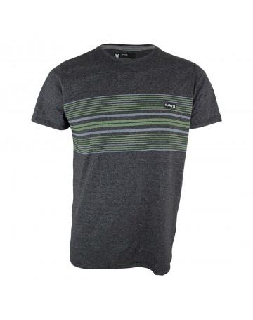 Camiseta Hurley Premium Stripe - Chumbo Mescla Verde