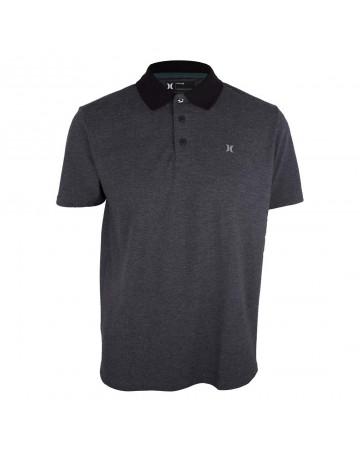 f851252021 Camisa Polo Hurley Icon - Chumbo