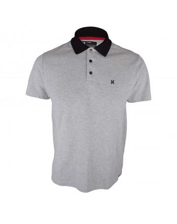 042f015698 Camisa Polo Hurley Icon - Cinza Mescla