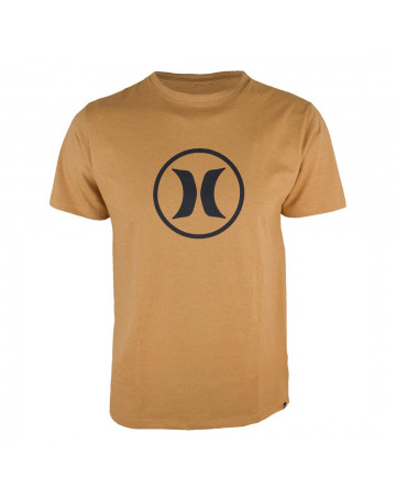Camiseta Hurley Circle Icon - Laranja Mescla