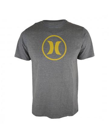 Camiseta Hurley Circle Icon - Chumbo Mescla