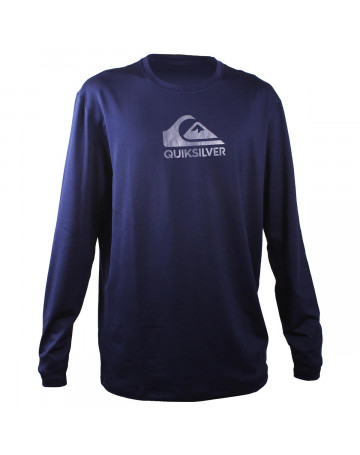 Camiseta Quiksilver Lycra Rashguard Solid Streak Marinho