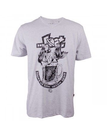 Camiseta Lost Mermaid Beer Cinza Mescla  8d28d89840267